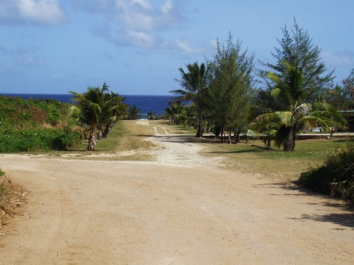 オブジャンビーチへの入口