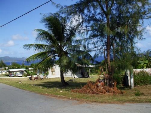 サイパン東海岸の住宅地