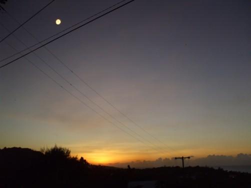サイパンの南端に沈む夕日