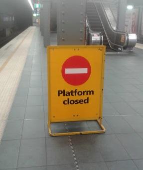 Platform closed