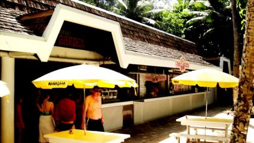 レストランコーラルガーデンでマニャガハハンバーガーとマニャガハ春巻きでのんびりランチ [マニャガハ島]