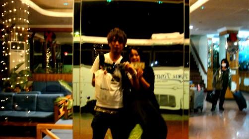 深夜のサイパン国際空港