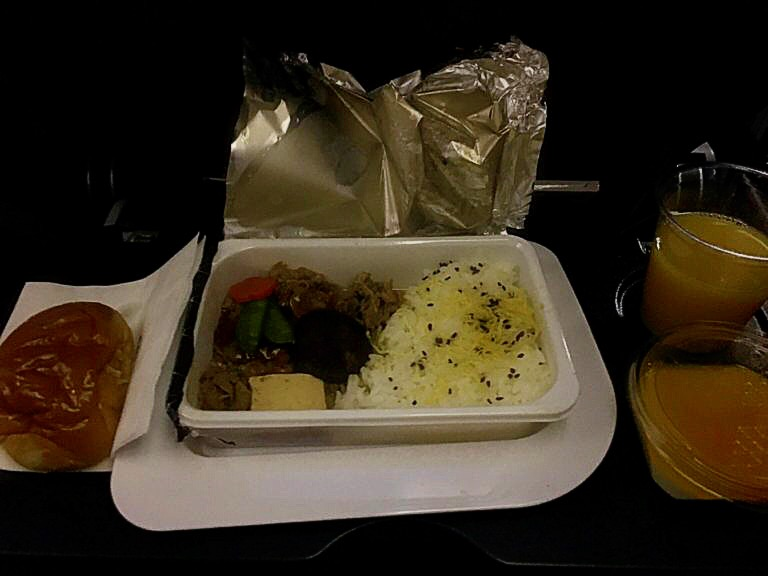 機内食 すきやき