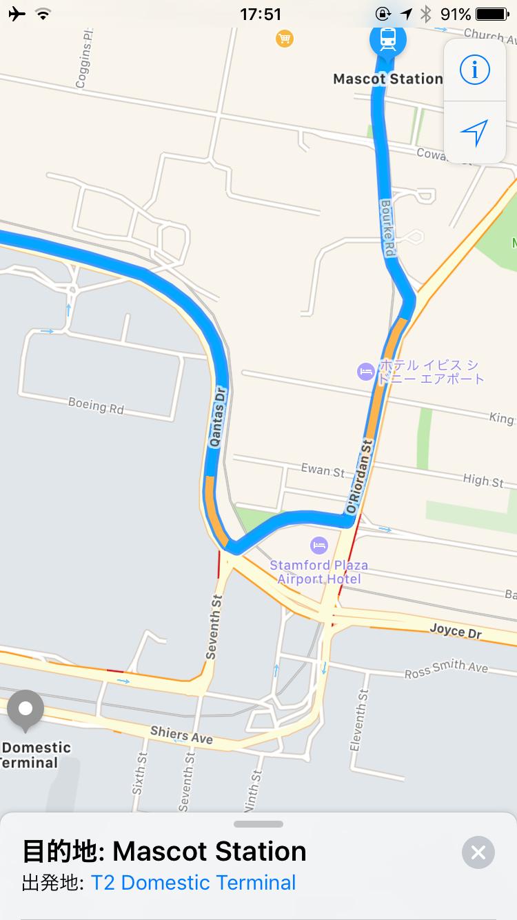 国内線からマスコット駅 地図